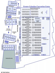 Greater Columbus Convention Center First Floor map
